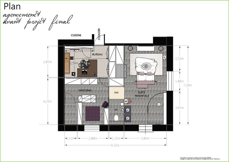 Suite Parentale Avec Salle De Bain Et Dressing Plan Inspirant Photos Plan Chambre Parentale Avec Salle De Bain Et Dressing Impressionnant