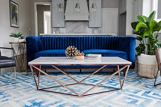 Table Basse Amazon Beau Collection Table Basse Rose Gold élégant Amazon Stella White Marble Coffee