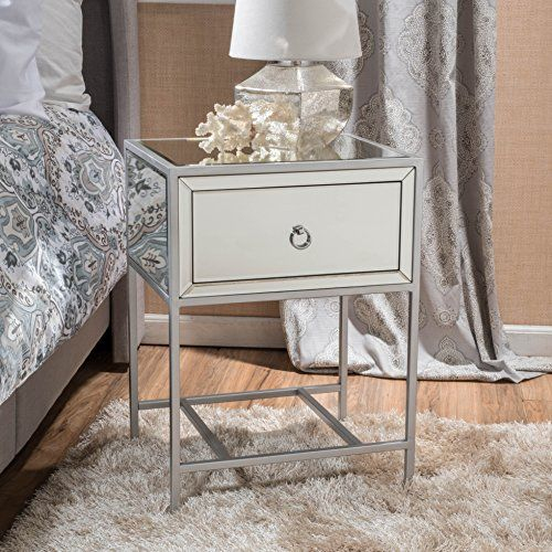 Table Basse Amazon Beau Images athena Mirrored Silver 1 Drawer Side Table Gif Studio S