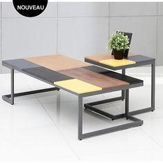 Table Basse Camif Beau Photos Table De Salon En Vieux Chªne Massif Ciré Et Acier Oxydé Ciré Aux