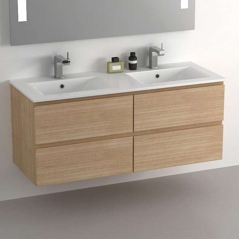 Vasque 120 cm 2 robinets impressionnant stock vasques lumineuses achat vente pas cher - Meuble vasque 120 cm ...