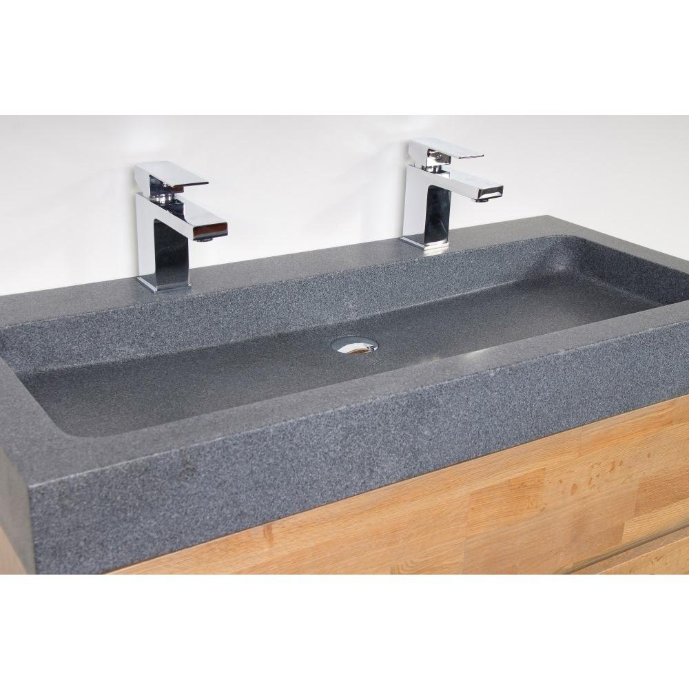 Vasque 120 cm 2 robinets impressionnant stock vasques lumineuses achat vente pas cher - Meuble pour poser vasque ...