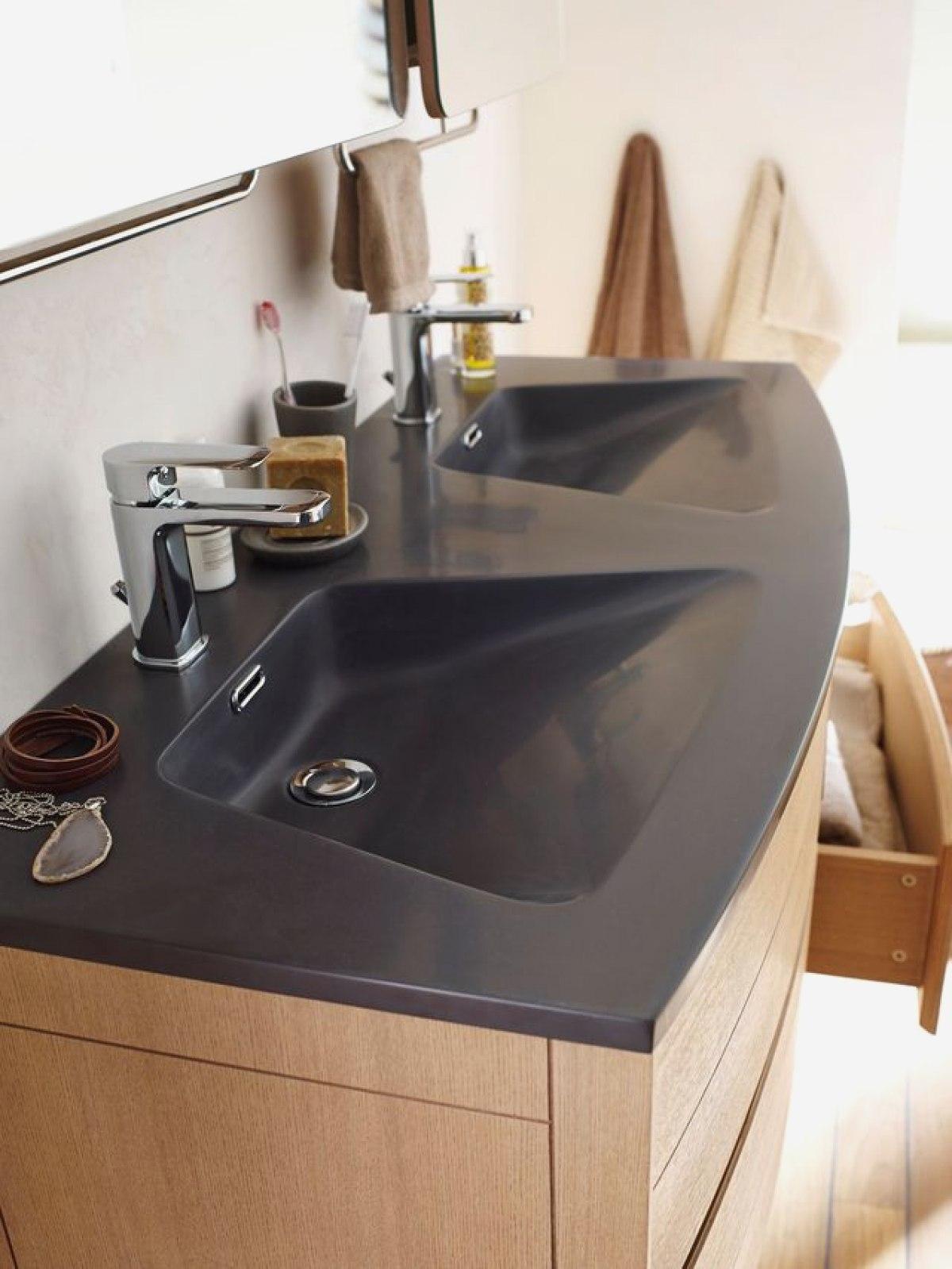 Vasque 120 Cm 2 Robinets Beau Photos Le Convenable 52 Voir Meuble Salle De Bain 2 Vasques Délicieux