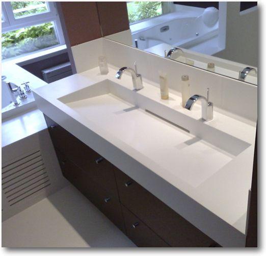 Vasque 120 Cm 2 Robinets Luxe Galerie Plan Vasque Corian Double Crea Diffusion Spécialiste Corian