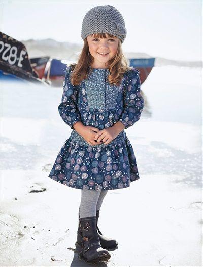 Vert Baudet Fille Beau Collection Robe Imprimée Fille Spécial Maternelle Ardoise Vertbaudet Enfant