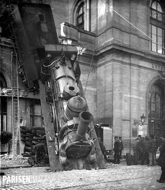 Vive Le Jardin Granville Unique Collection Accident De La Gare Montparnasse Paris 22 Octobre 1895 Détail D