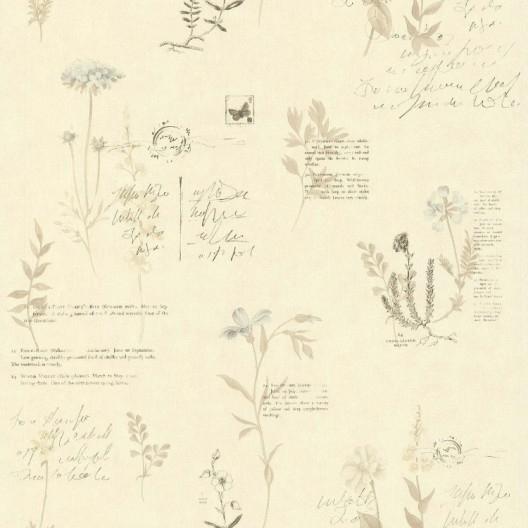 Voile Hivernage Botanic Beau Images Papier Peint Botanique Beige Papier Cuisine Et Bain