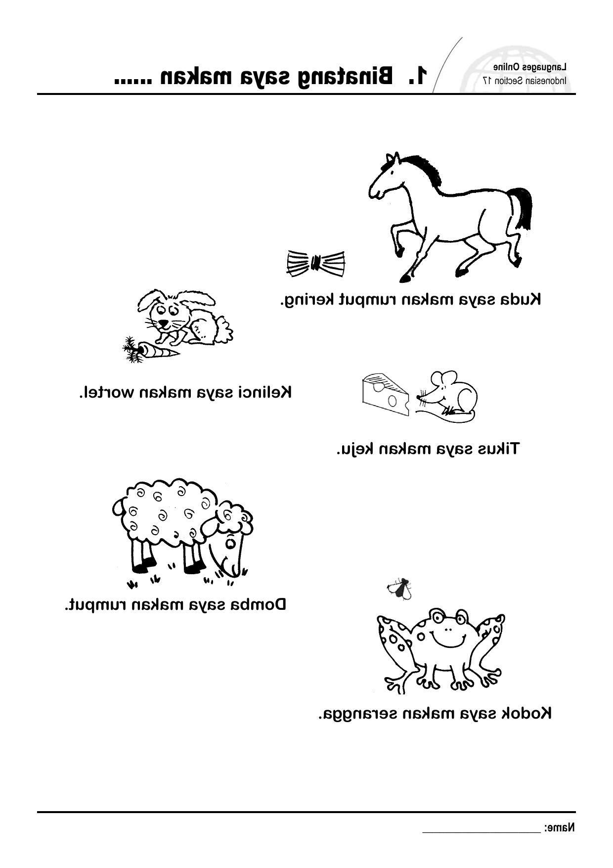 1. Binatang Saya Makan throughout Gambar Domba Makan Rumput