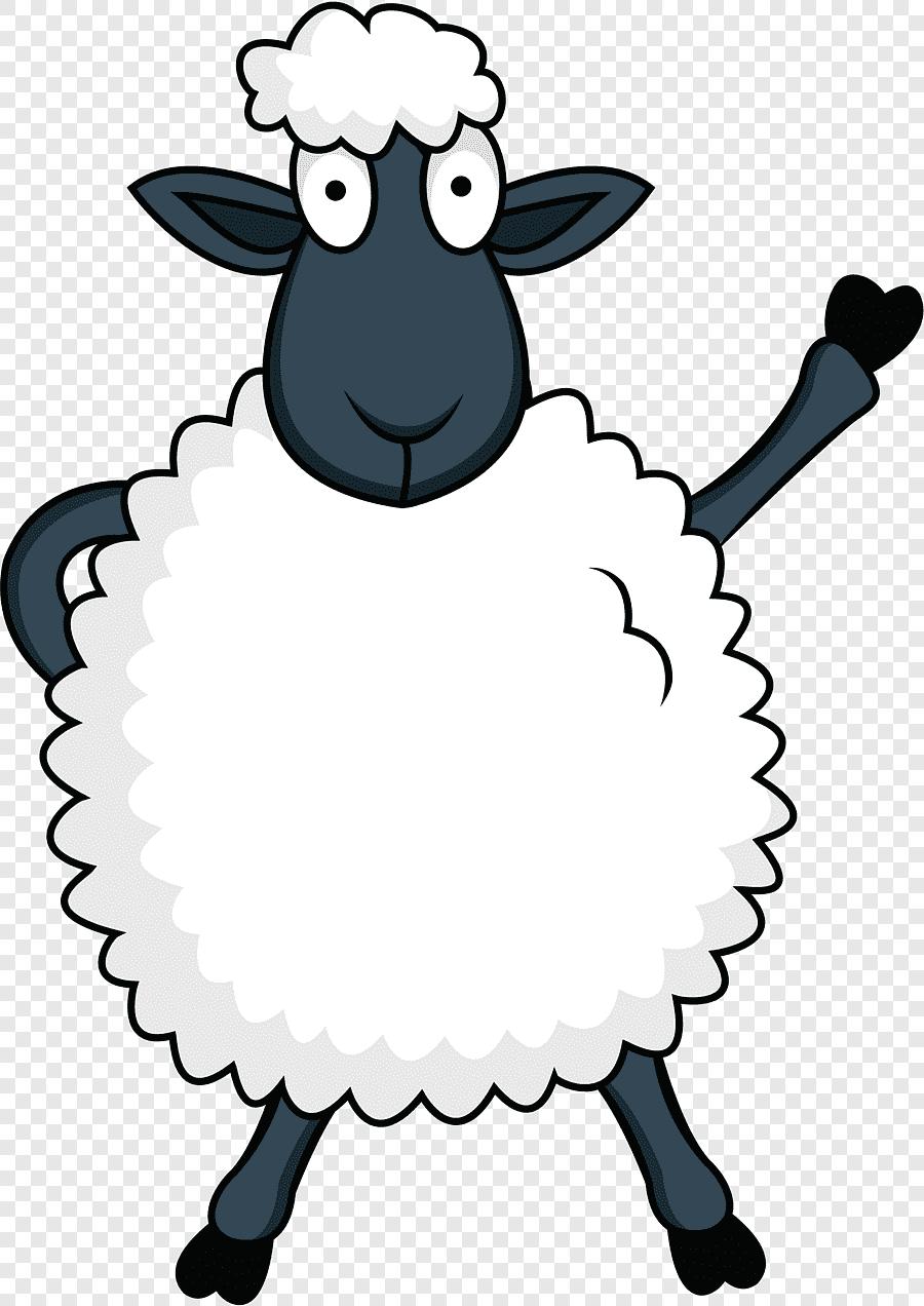 Berdiri Domba Putih, Domba, Kartun Domba, Putih, Hewan Png with Gambar Domba Animasi