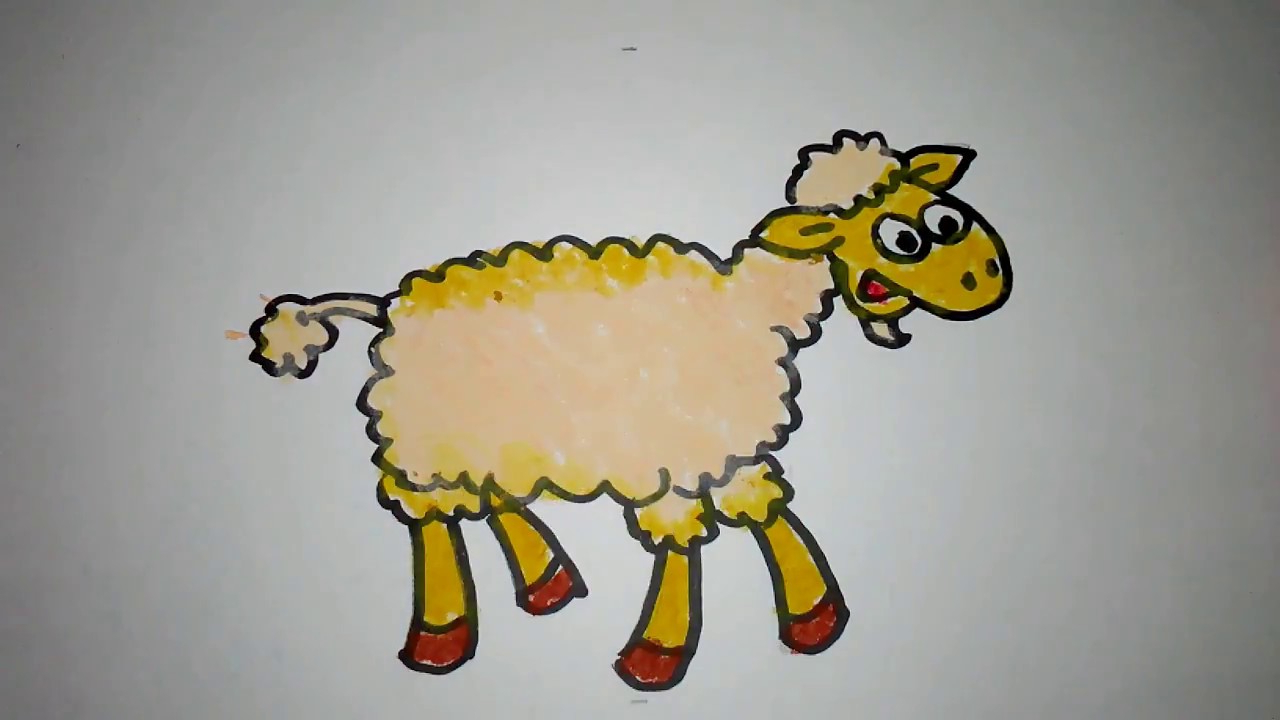 Cara Menggambar Domba Lucu throughout Gambar Domba Lucu