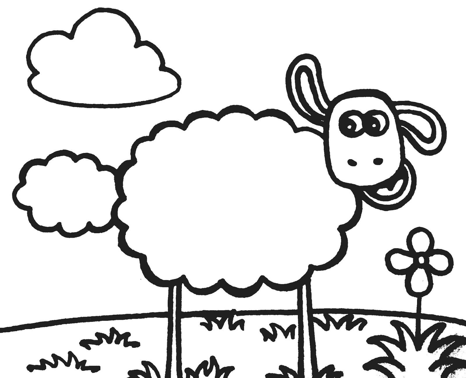 Contoh Gambar Gambar Domba Untuk Mewarnai   Kataucap inside Gambar Domba Mewarnai