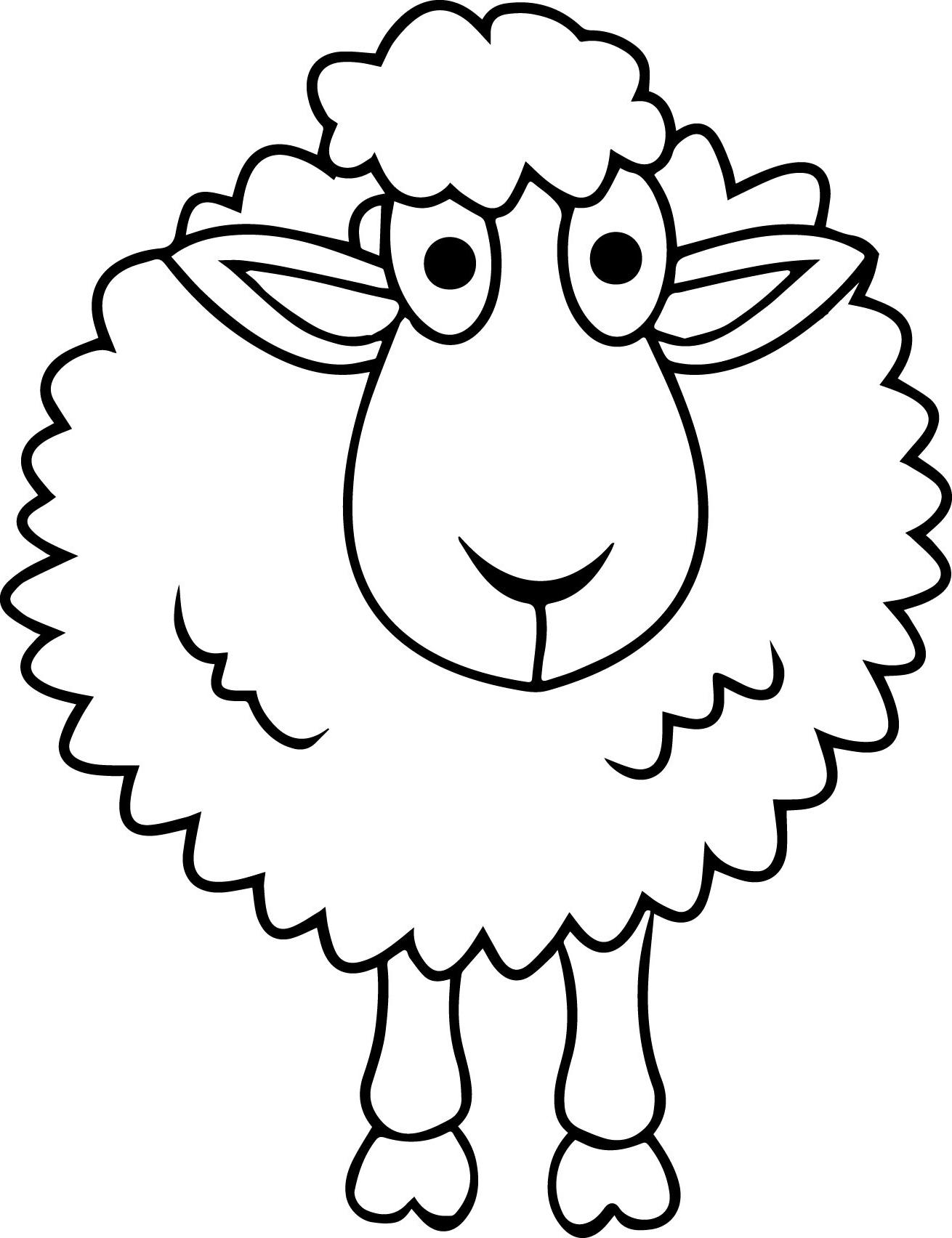 Contoh Gambar Mewarnai Domba Lucu   Kataucap regarding Gambar Domba Sketsa