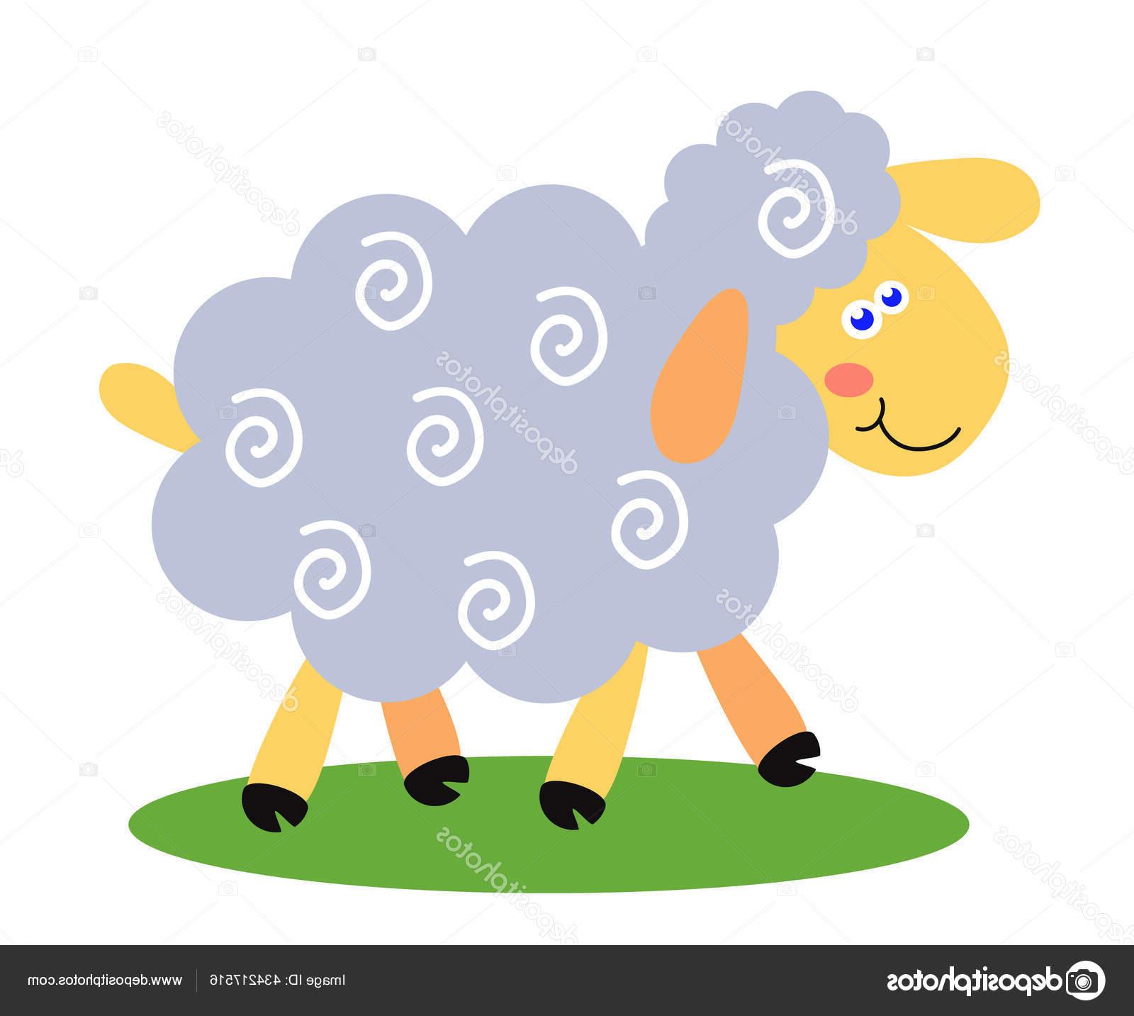 Domba Lucu Dengan Latar Belakang Putih Kartun Ilustrasi throughout Gambar Domba Lucu