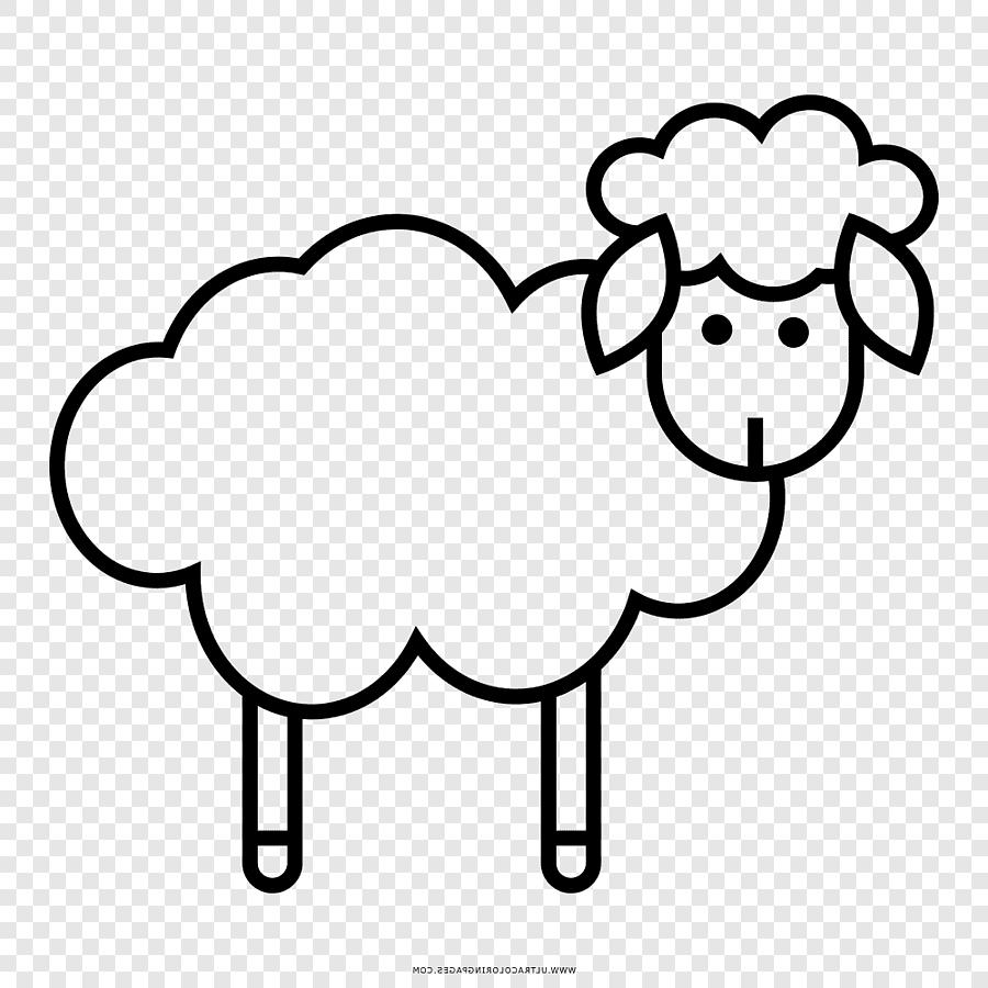 Domba Menggambar Buku Mewarnai Hitam Dan Putih, Ovelha inside Gambar Domba Mewarnai