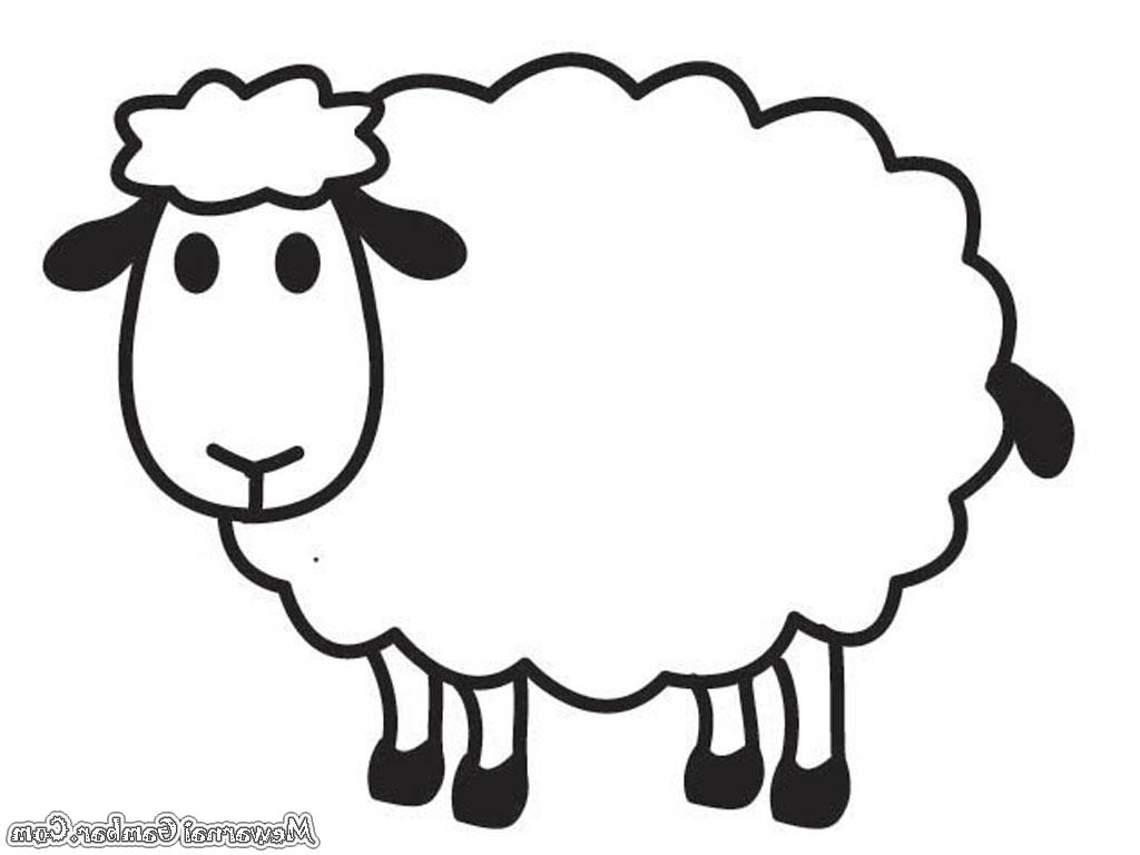 Gambar Mewarnai Hewan Domba throughout Gambar Domba Untuk Mewarnai