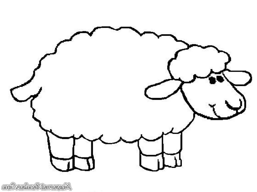 Himpunan Gambar Domba Animasi Hitam Putih | Hitamputih44 inside Gambar Domba Animasi