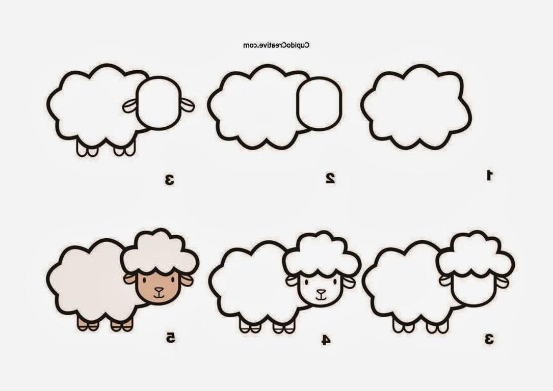 Kerajinan Anak   Menggambar Domba | Gambar Hewan, Gambar throughout Gambar Domba Untuk Mewarnai