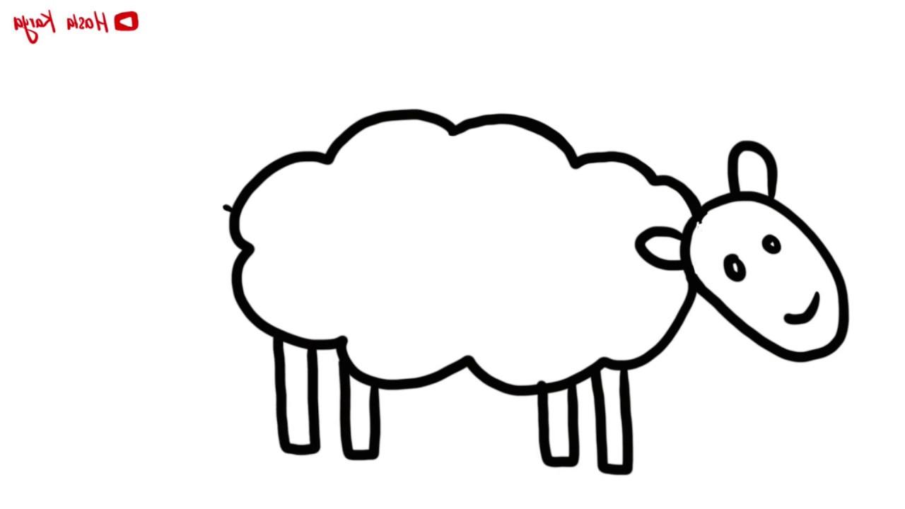 Menggambar & Mewarnai Hewan Ternak Kambing / Domba Untuk Anak | Belajar  Dirumah with regard to Gambar Domba Mewarnai
