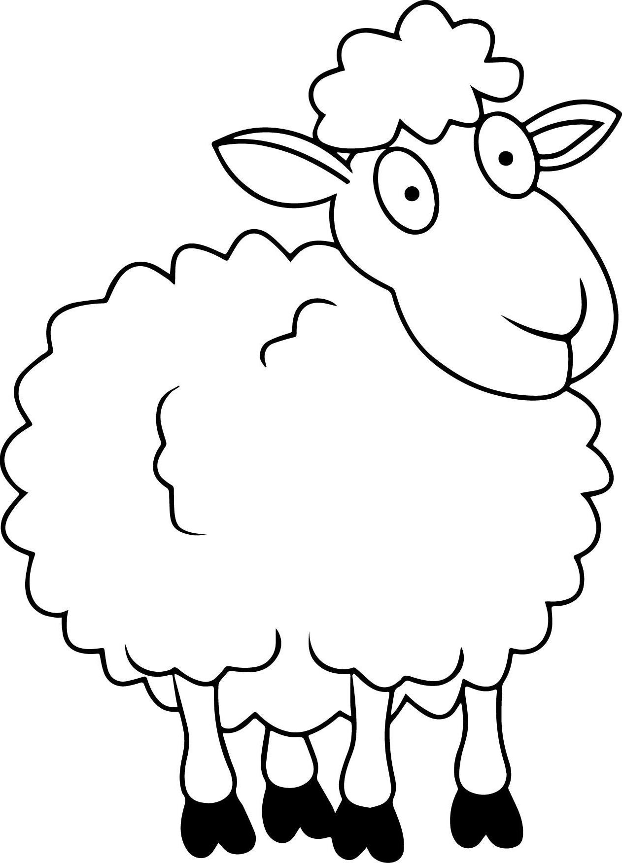 Mewarnai Gambar Domba   Kreasi Warna pertaining to Gambar Domba Sketsa