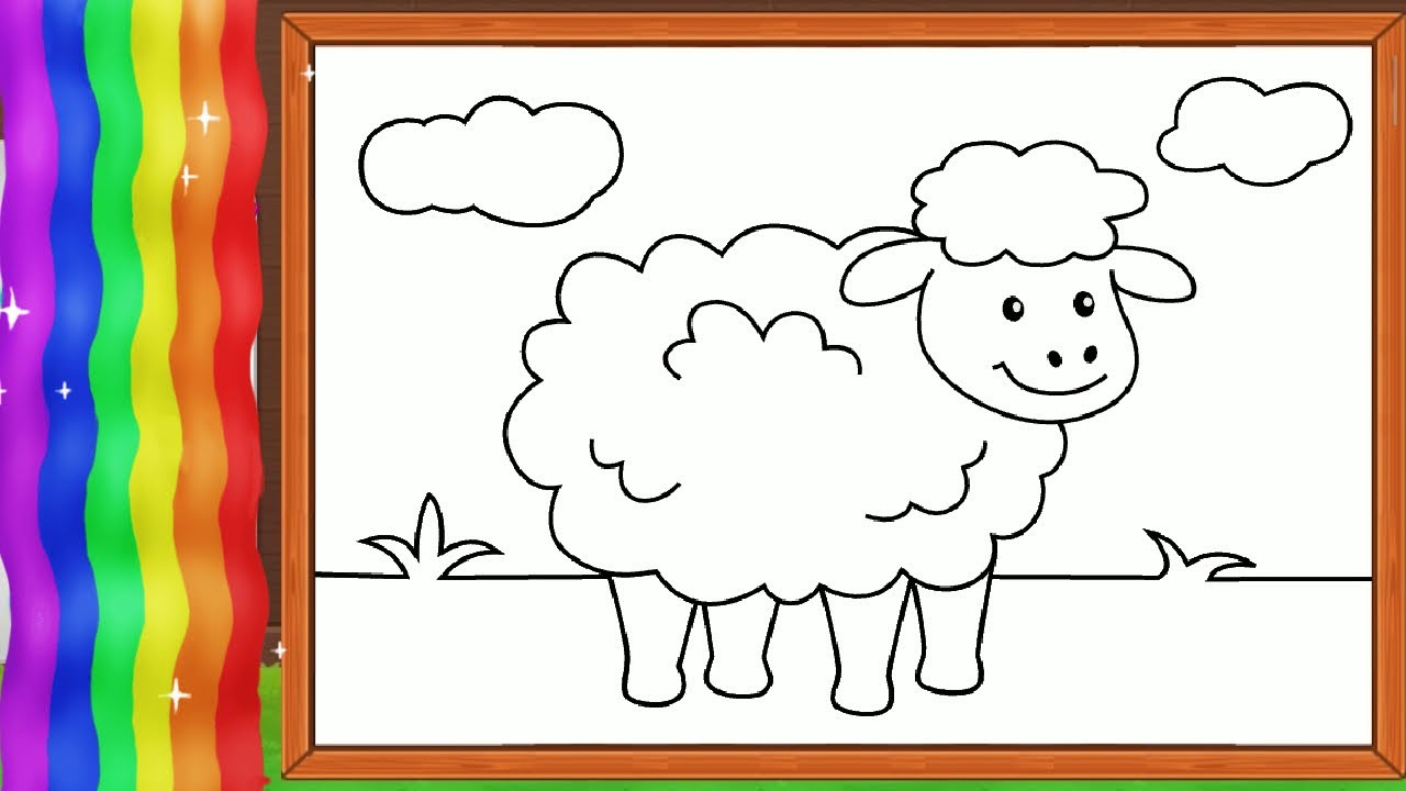 Mewarnai Gambar Kambing Domba Untuk Anak Dengan Warna Cantik with regard to Gambar Domba Untuk Mewarnai
