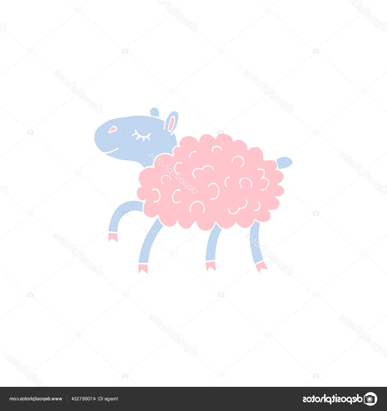 Vektor Tangan Gambar Sketsa Corat Coret Pastel Berjalan regarding Gambar Domba Sketsa